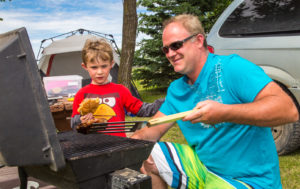 Camping at Boissevain Campground